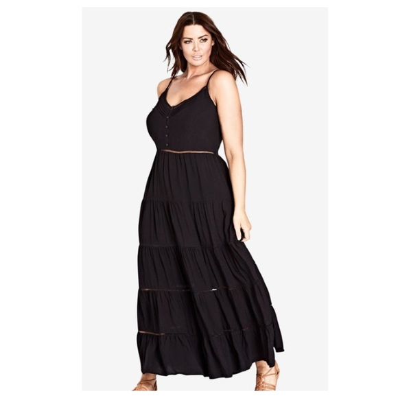 City Chic Dresses & Skirts - City Chic Black Festival Maxi Dress